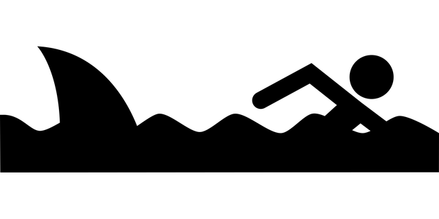 pictogram, humor, swimmer